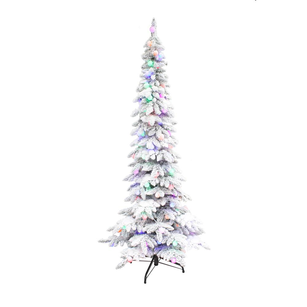Colored Lights Christmas Tree