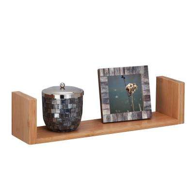 15.75 in. W x 3.94 in. D Wall Ledge Shelf in Bamboo Decorative Shelf