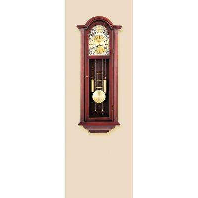 38.5 in. x 15 in. Pendulum Wall Chime Clock