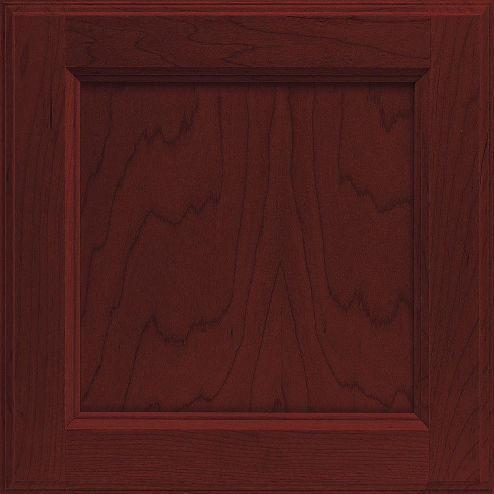 Cabinet Door Sample in Linden Maple Cranberry