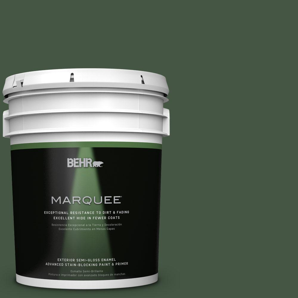 BEHR MARQUEE 5-gal. #ECC-11-3 Whispering Oaks Semi-Gloss Enamel Exterior Paint