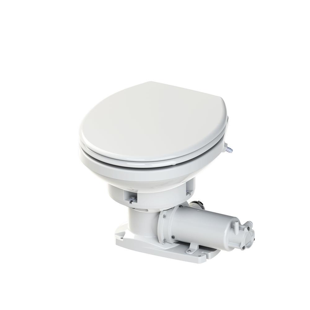 Saniflo Sanimarin Maxlite 1 Piece Dual Flush 24 Volt Round Bowl