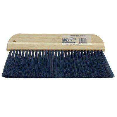 12 in. Black Plastic  Concrete Hand Brush-Plastic Block
