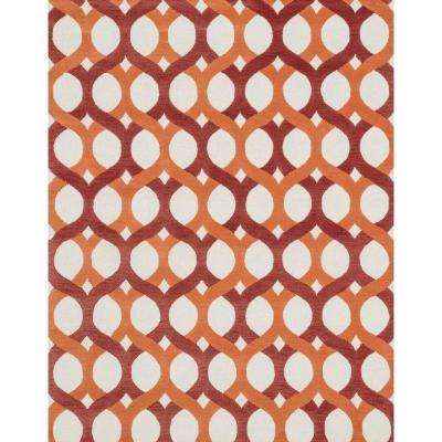 Weston Lifestyle Collection Red/Orange 7 ft. 9 in. x 9 ft. 9 in. Area Rug