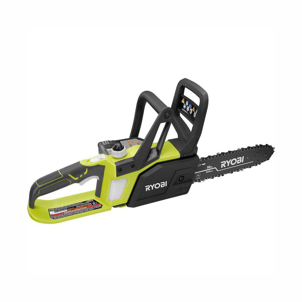 RYOBI Reconditioned ONE+ Lithium+ 10 in. 18-Volt Lithium-Ion Cordless Chainsaw - 1.5 Ah Battery and Charger Included
