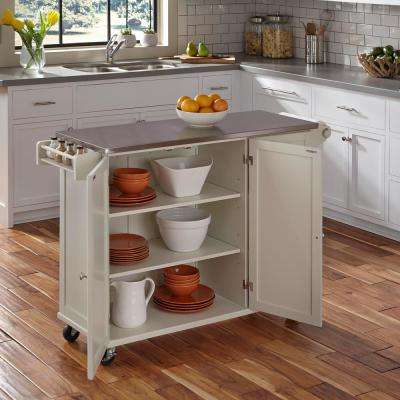 Liberty White Kitchen Cart