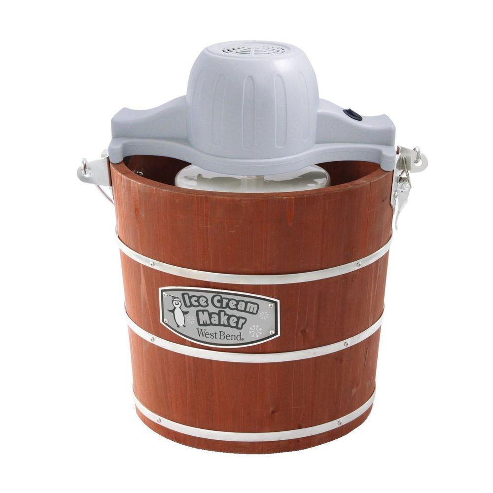 West Bend 4 qt. Wooden Bucket Ice Cream Maker-DISCONTINUED