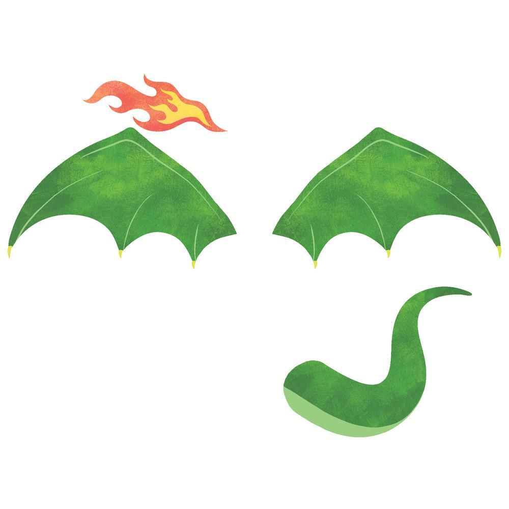 Green Soaring Dragon Decal Wall Art Kit