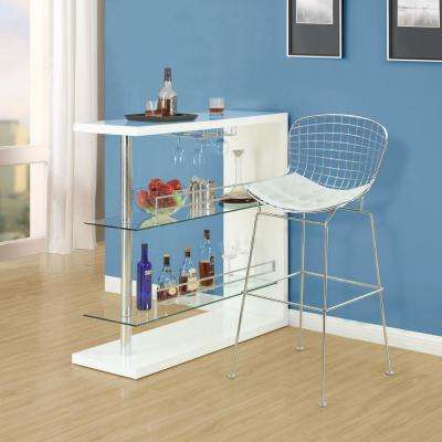 CAD 42 in. Bar Stool in White