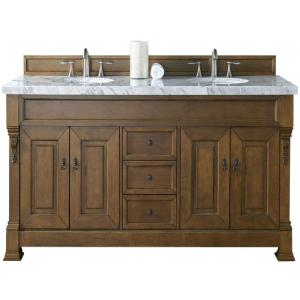 James Martin Signature Vanities Brookfield 72 inch W Double Vanity in Country Oak with Marble Vanity Top in Carrara... by James Martin Signature Vanities