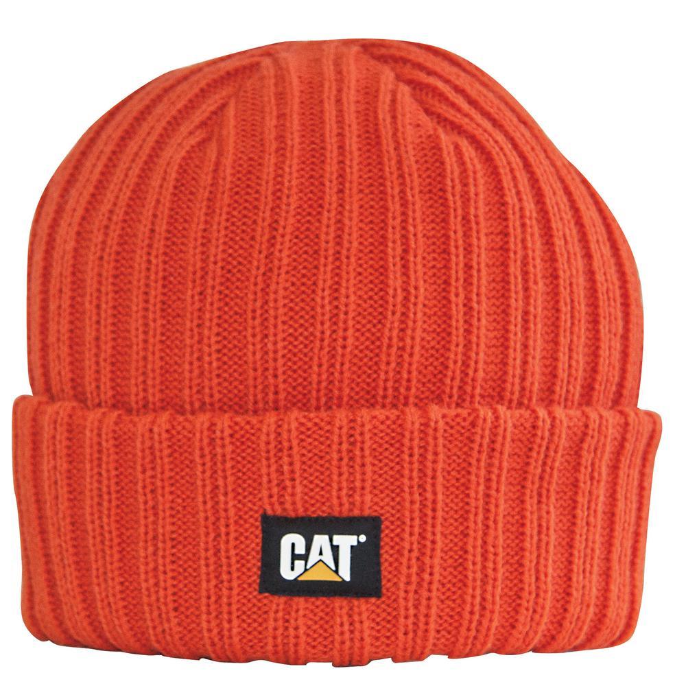 Rib Watch Men's One Size Adobe Orange Acrylic Knit Cap Beanie