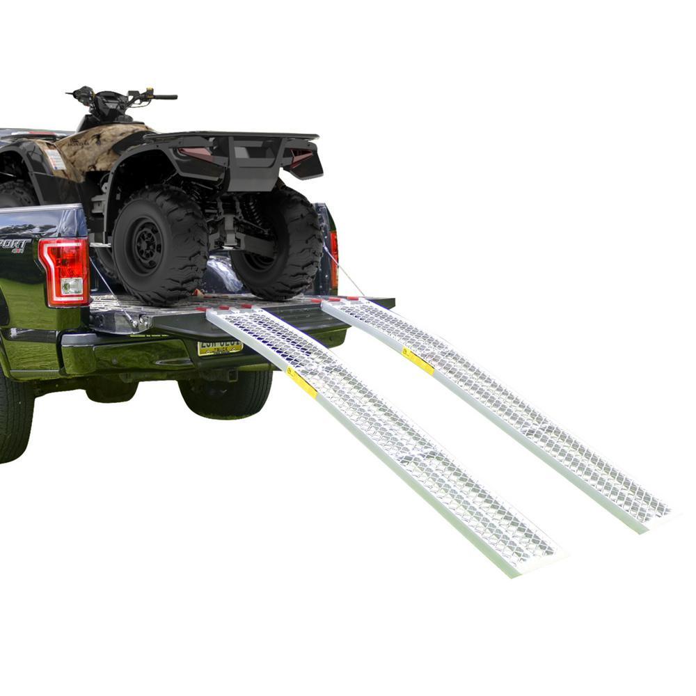 7.5 ft. Long Multi-Purpose Arched Aluminum Non-Folding Ramp (Pair)