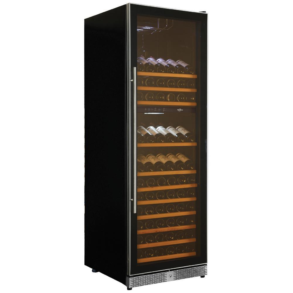 Koolatron 173-Bottle Dual Zone Wine Cooler, Black