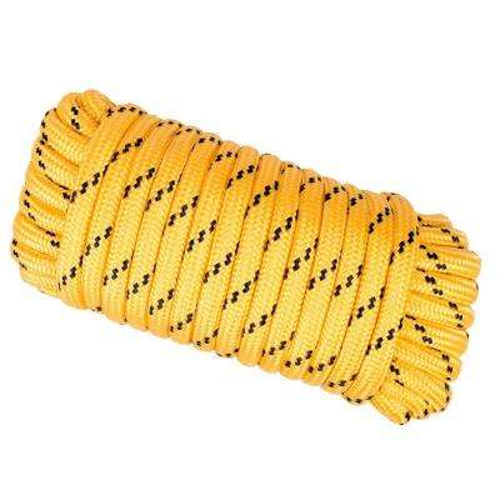 1/2 in. x 50 ft. Heavy Duty Diamond Braid Polypropylene Rope - Yellow