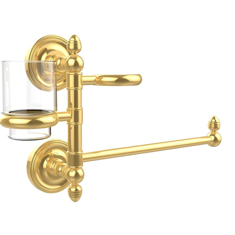 Prestige Regal Collection Hair Dryer Holder and Organizer in Polished Brass
