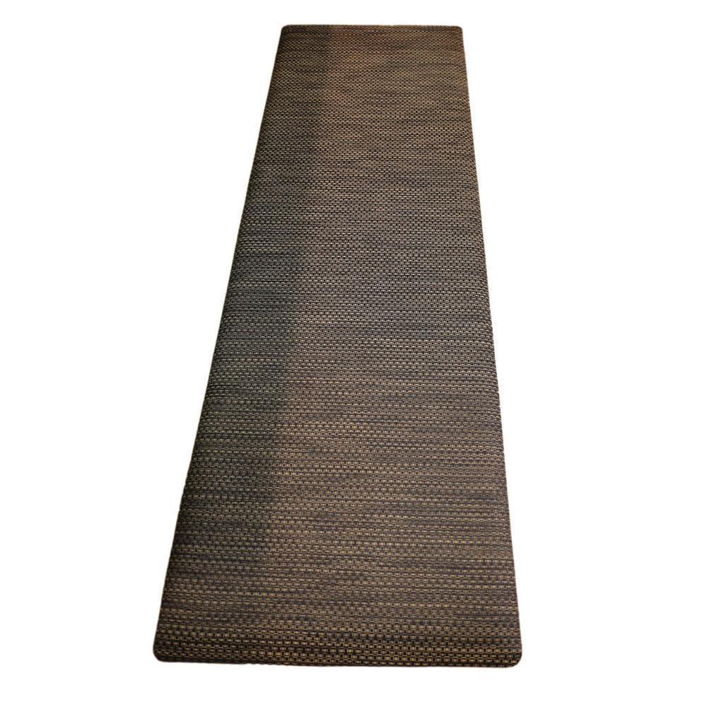 Chef's Design Black Wicker 24 in. x 72 in. Comfort Mat