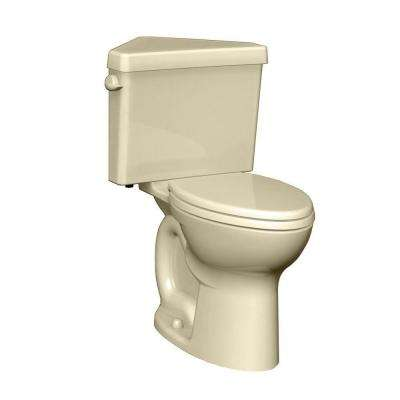 Cadet 3 Powerwash Triangle Tall Height 2-piece 1.6 GPF Single Flush Round Toilet in Bone, Seat Not Included