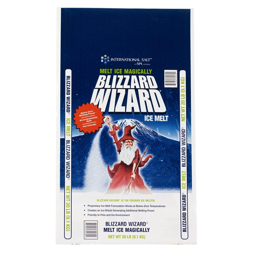 blizzard wizard 25 lb ice melt bw25 the home depot