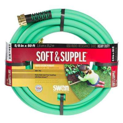 5/8 in. Dia x 50 ft. Soft and Supple Heavy Duty Water Hose