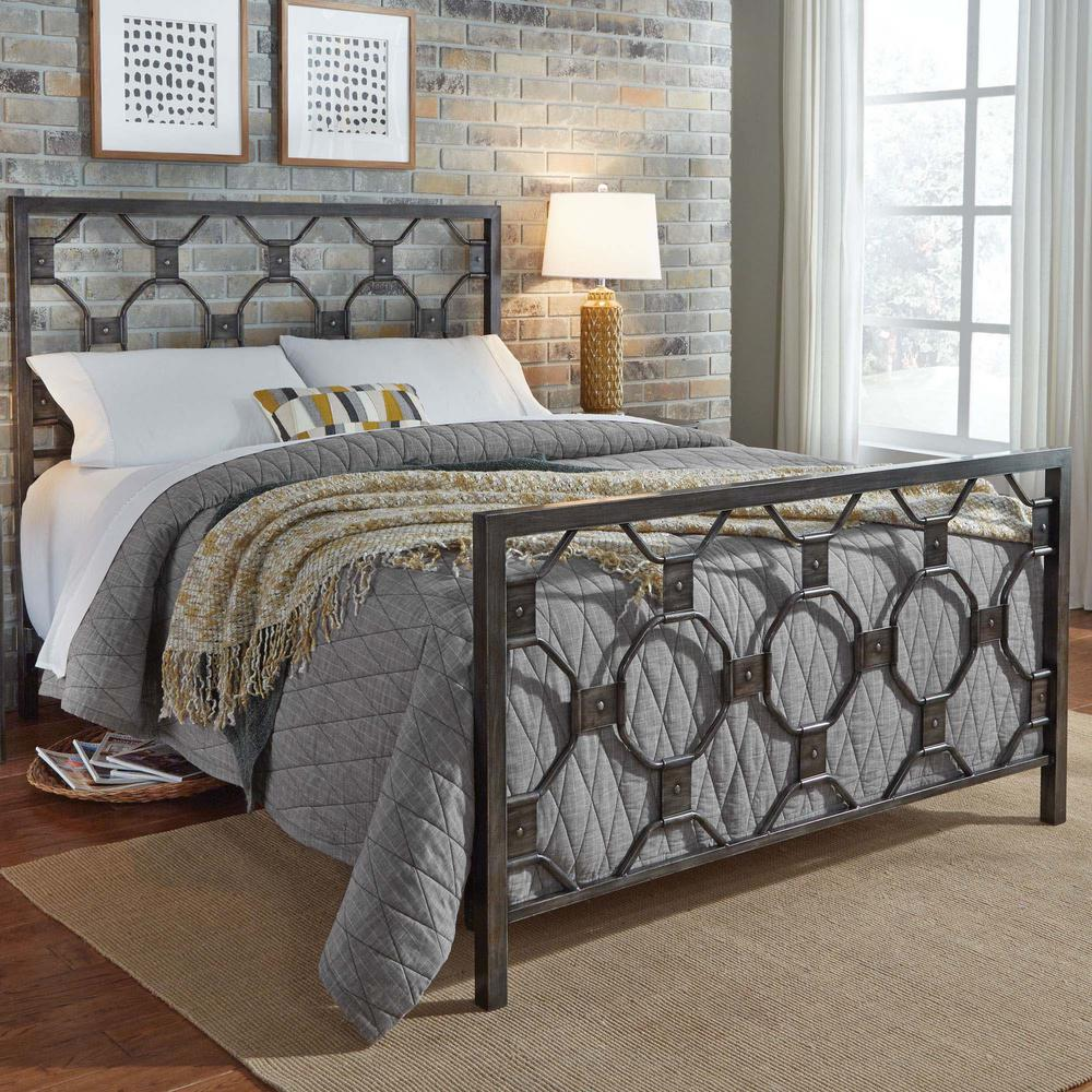 Fashion Bed Group Baxter Heritage Silver California King Metal Bed