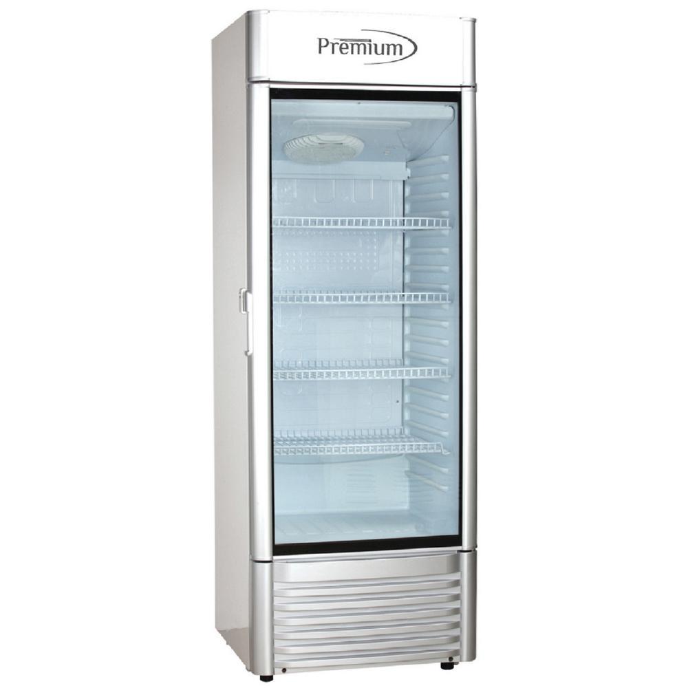 Premium PRF125DX 12.5 cu Single Door Merchandiser Refrigerator ft Gray