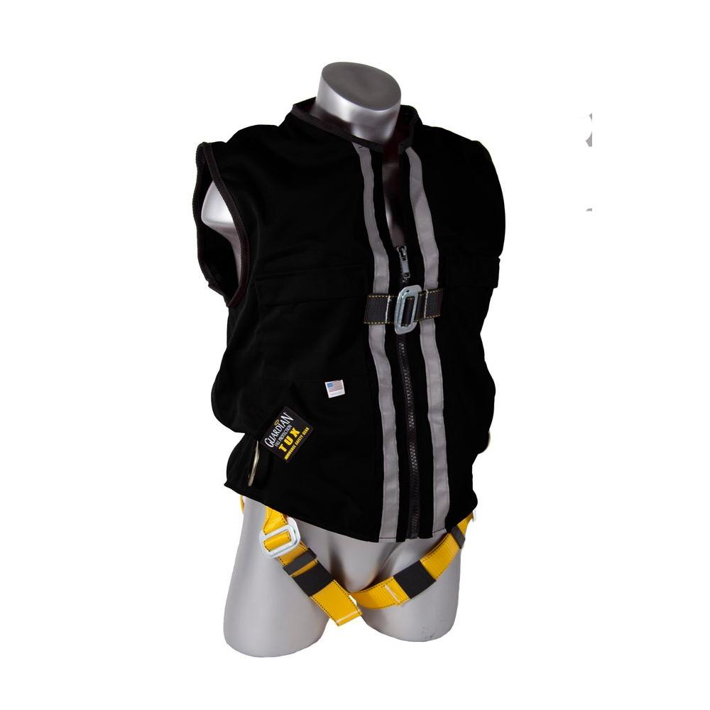 guardian fall protection safety harnesses 02630 64_1000 guardian fall protection extra large black mesh construction tux