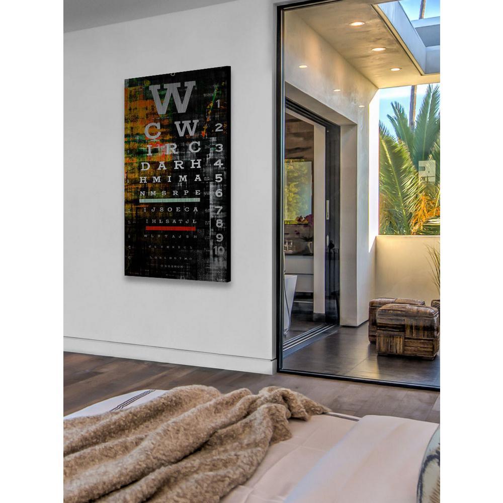 "36 in. H x 18 in. W ""Night Eye"" by Parvez Taj Printed Brushed Aluminum Wall Art"
