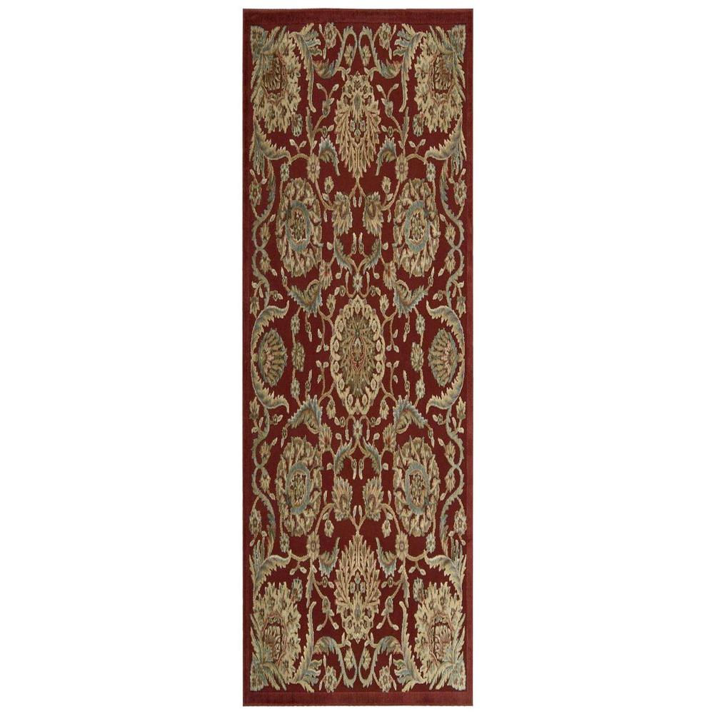 Nourison Graphic Illusions Red 2 ft. 3 in. x 8 ft. Rug Runner