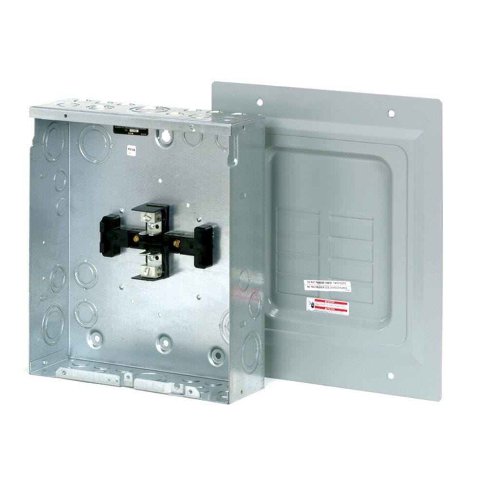 BR 125 Amp 4-Space 8-Circuit Indoor Main Lug Loadcenter with Surface