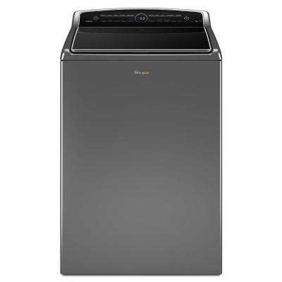 5.3 cu. ft. High-Efficiency Top Load Washer with ColorLast in Chrome Shadow, Intuitive Touch Controls