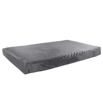 Large Orthopedic Memory Foam Pet Bed in Gray