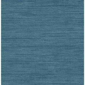 Brewster 56.4 sq. ft. Sea Grass Blue Faux Grasscloth Wallpaper by Brewster