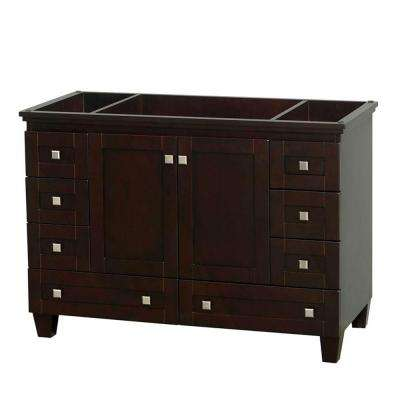 Acclaim 48 in. Vanity Cabinet Only in Espresso