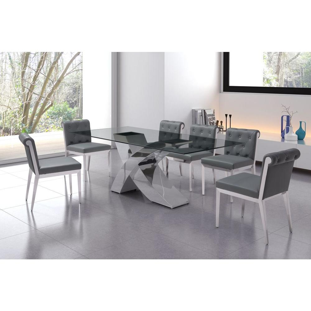 ZUO Wave Chrome Dining Table