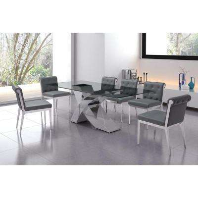 Wave Chrome Dining Table