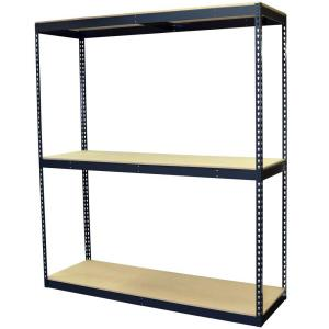 Storage Concepts 72 inch H x 72 inch W x 24 inch D 3-Shelf Steel Boltless Shelving Unit with Double Rivet... by Storage Concepts
