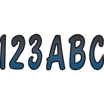 Series 200 Registration Kit Cursive Font with Top to Bottom Color Gradations in Blue Metallic/Black