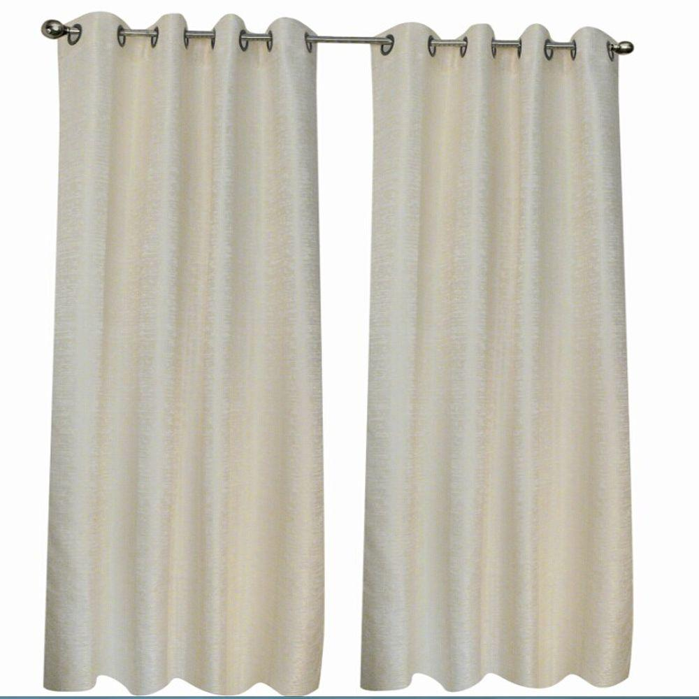 Home decorators collection beige montclair curtain 50 in w x 95 in l mon5095be the home depot Home decorators collection valance
