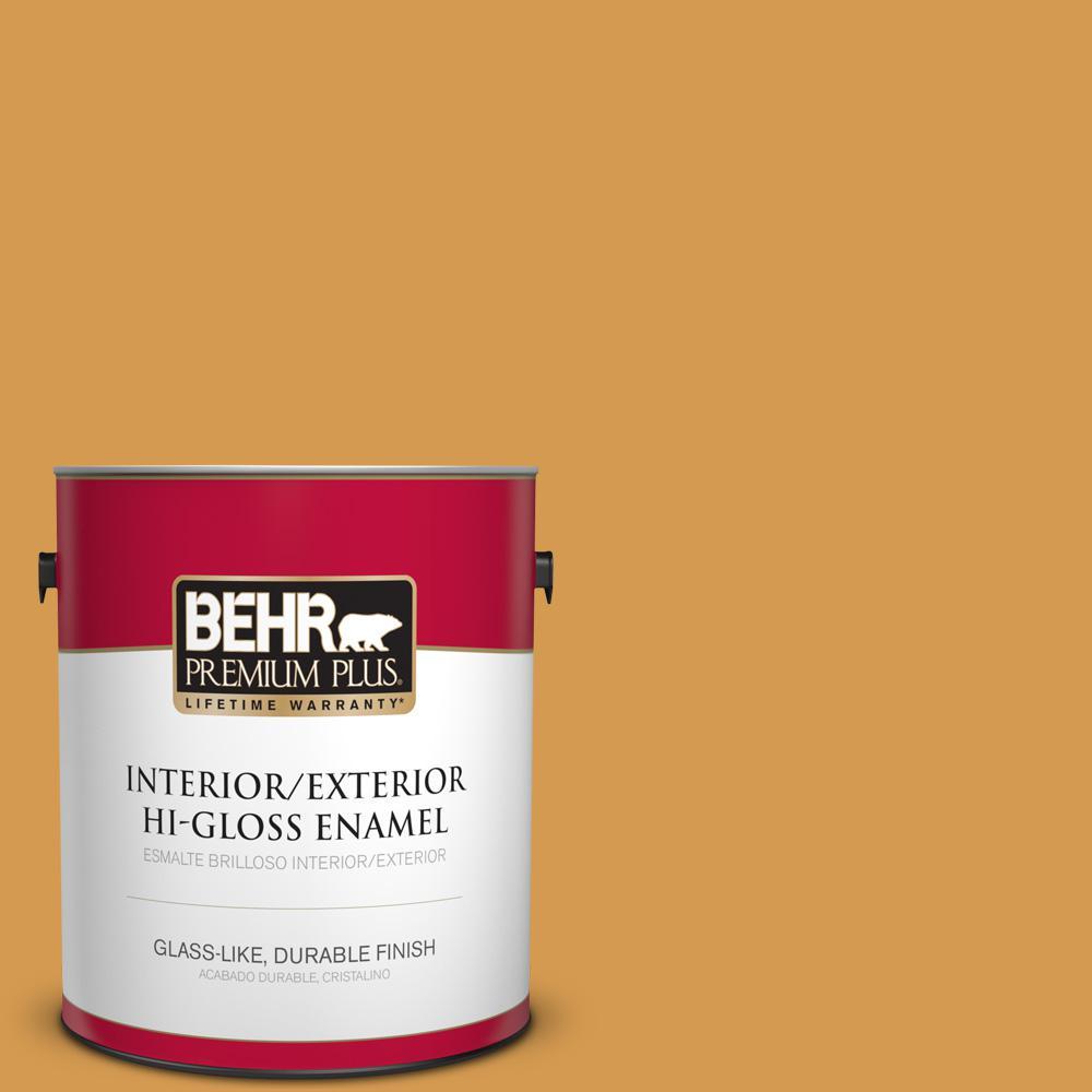 1 gal. #PPU6-02 Saffron Strands Hi-Gloss Enamel Interior/Exterior Paint