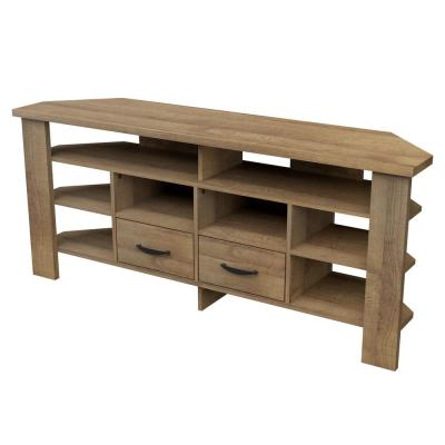 59.1 in. Amaretto Wood Corner TV Stand Fits TVs up to 60 in.