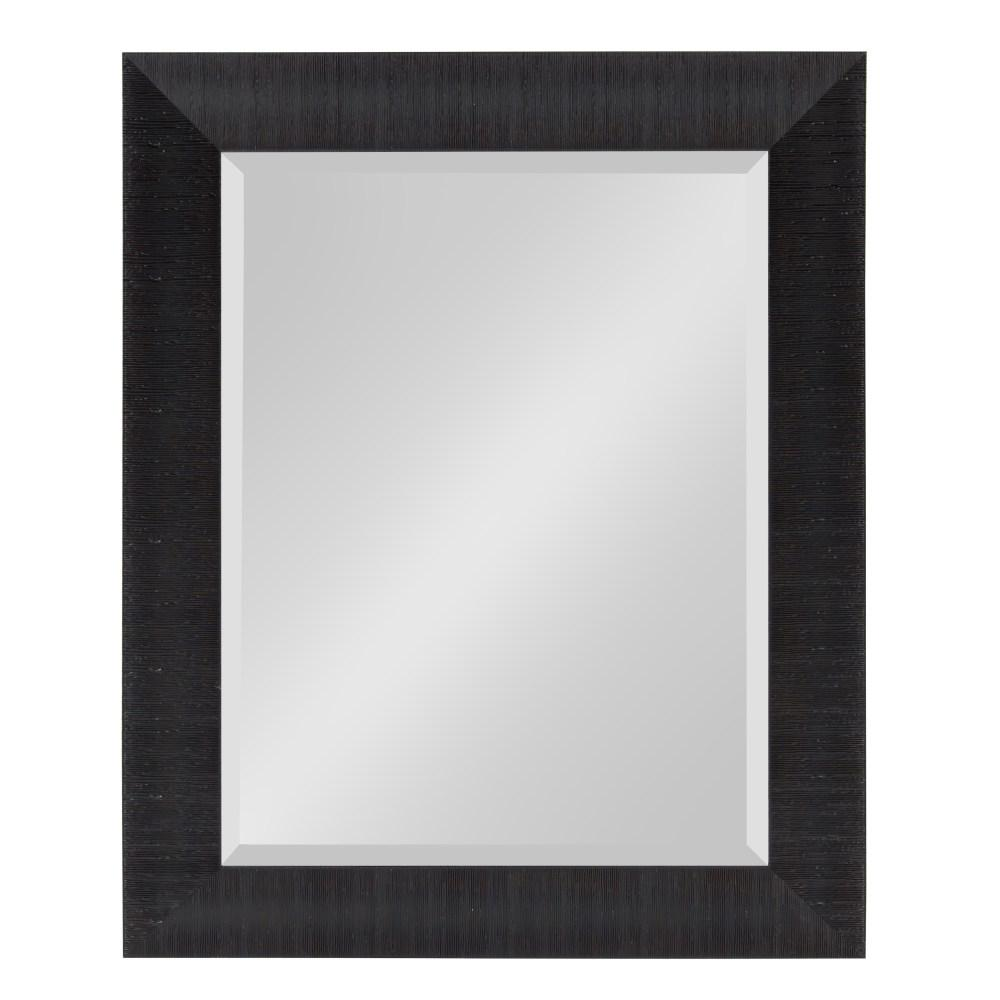 Kate And Laurel Medium Rectangle Black Beveled Glass Contemporary Mirror 29 75 In H X 23 75 In W 213007 The Home Depot