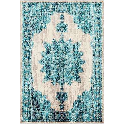 Sora Teal 7 ft. 9 in. x 11 ft. 2 in. Oriental Area Rug