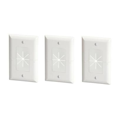 White 1-Gang 1-Decorator/Rocker/1-Duplex Wall Plate (3-Pack)