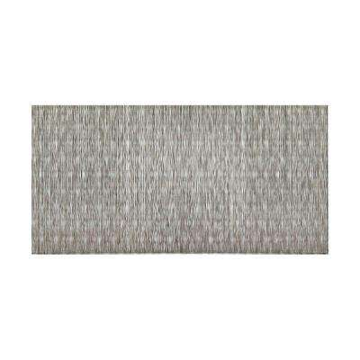 Ripple Vertical 96 in. x 48 in. Decorative Wall Panel in Crosshatch Silver