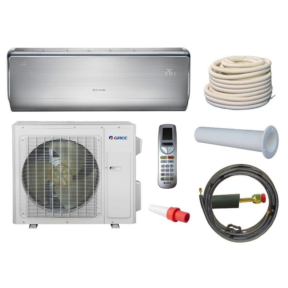 Gree crown 12 000 btu 1 ton ductless mini split air for 12000 btu window air conditioner with heat pump
