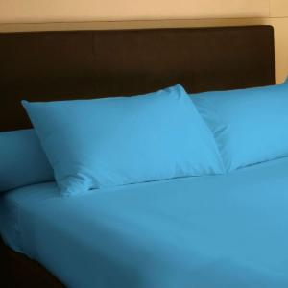 Lavish Home 4-Piece Blue 300 Count Egyptian Cotton King Sheet Set by Lavish Home