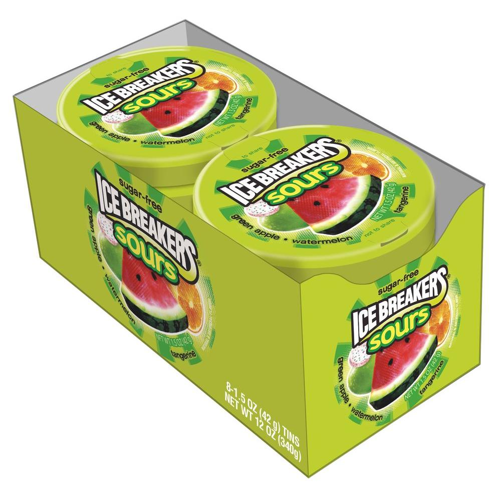 Ice Breakers Sours Fruit Tin 1.5 oz. (8-Pack)