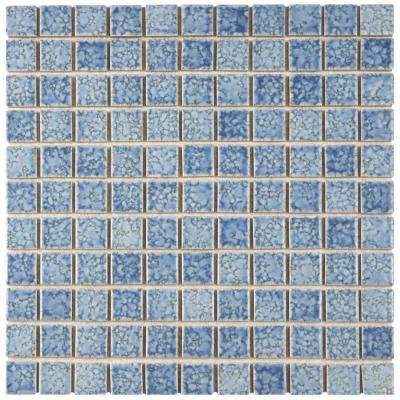 Fountain Square Blue 12 in. x 12 in. x 5 mm Porcelain Mosaic Tile
