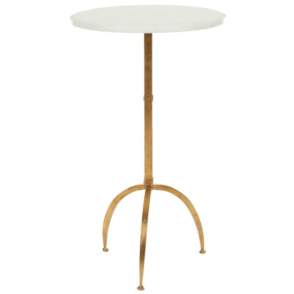 Safavieh Myrna White and Gold End Table, White/Gold