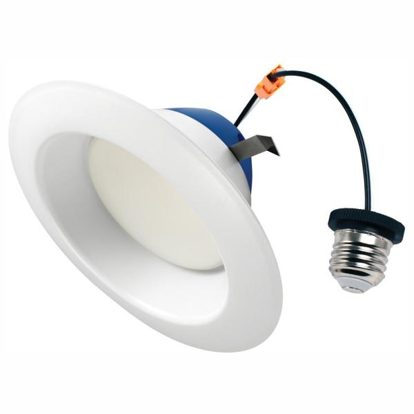 6 in. 100-Watt Equivalent 2700K Soft White Integrated LED Recessed Downlight Retrofit Trim
